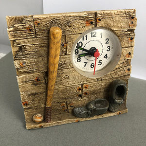 Vintage Accessories - Vintage Baseball Clock with Baseball Gear